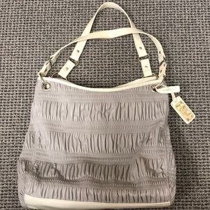 NWOT Nine West Purse - Textured gray w/ cream trim